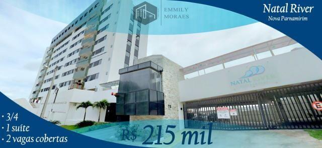 Apartamento 3/4 sendo 1 suíte - Móveis projetados - R$ 215 mil