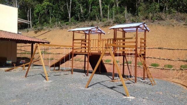 Playground 15 Brinquedos em Madeira de Lei Resinado