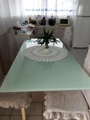 Mesa jantar de vidro