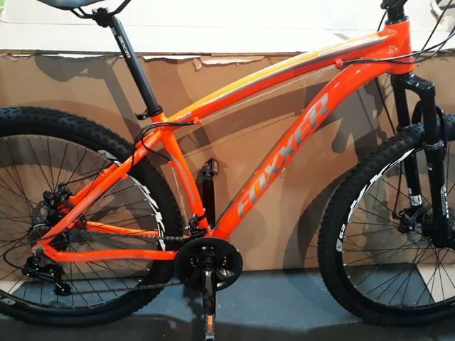 Bicicleta foxxer laranja 24 velocidades