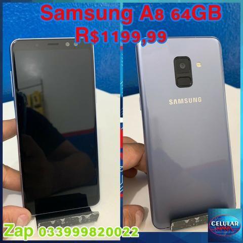 Samsung A8 64GB Usado Com Garantia De Loja