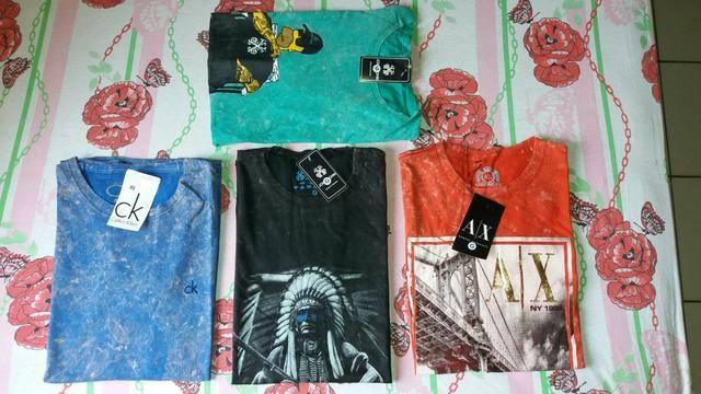 Camisas, perfumes, calcinha juvenil e tênis