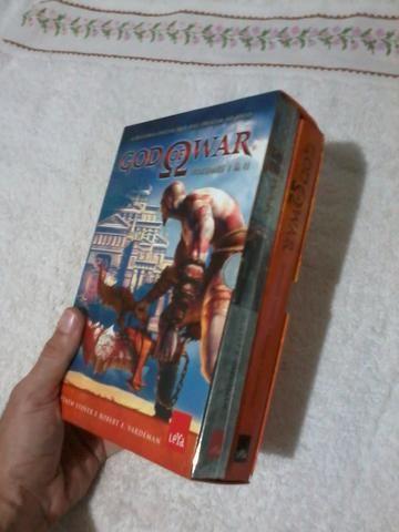 Box de livros God of War, volumes I e II