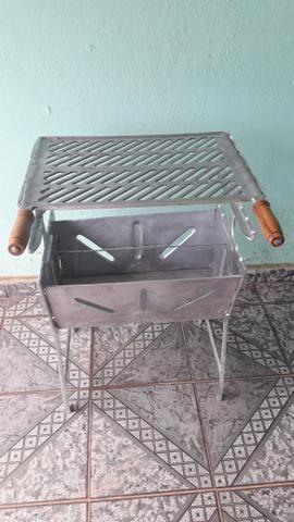 Churrasqueira de alumínio fundindo - Foto 3