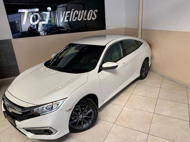 Honda Civic EXL 2.0 * Igual Zero Km * 4.000 Kms Sem Um Detalhe, Branco Perolizado, 2020 - Foto 16