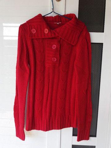 Blusa Vermelha Inverno