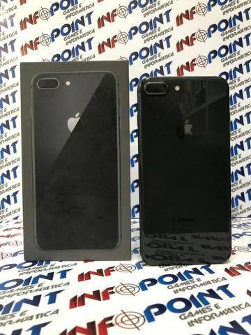 Oportunidade iPhone 8 Plus 64GB Black - seminovo - aceito iPhone na troca - Loja Centro - Foto 4