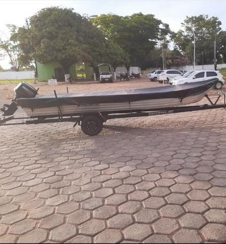 Vendo Barco + Motor + Carreta - Foto 2