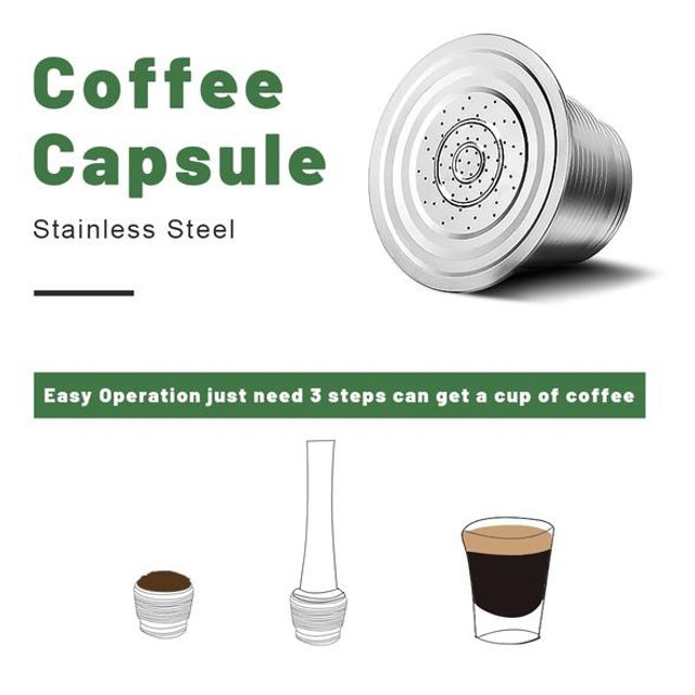 Nespresso cápsula de café reusável aço inoxidável filtros recarregáveis - Foto 2