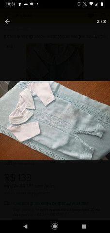 Saída de maternidade Masculina em tricô - Foto 4