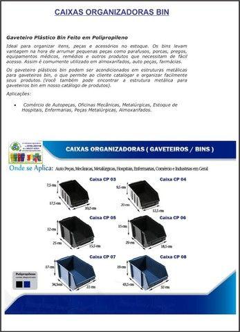 Caixa Plastica Organizadora BIN3 cor preta - Foto 3