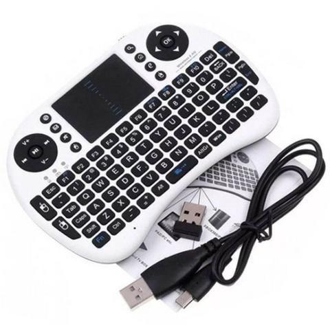 Mini Teclado Sem Fio Wireless Touch Pad Universal Console Pc - Foto 2