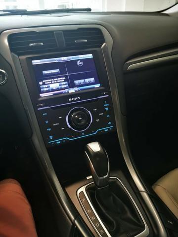 Ford/ Fusion Top de LInha - Ano 2015/2015 - Unico dono - Branco com interior caramelo - Foto 4