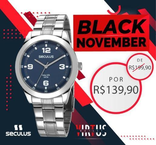 Mega Promoção de Relógio Seculus Masculino de R$ 199,90 por R$ 139,90