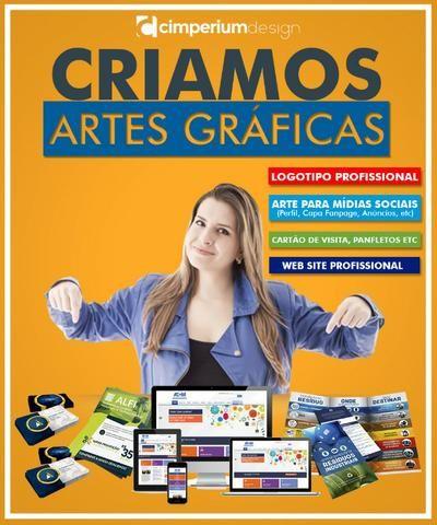 Criamos logo, Artes Gráficas e Web site