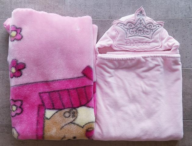 Cobertor Jolitex Berço + Toalha dupla da Disney Princess menina