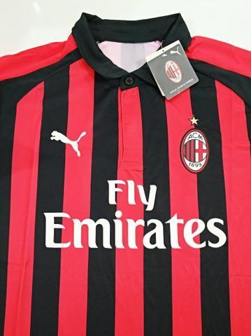 Camisa Milan Home 18 19 - Esportes e ginástica - Henrique Jorge ... bc12e6e36e4ef