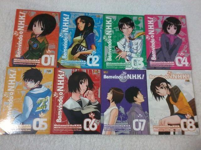 Coleção de Mangas NHK (Nihon Hikikomori Kyokai) completa, volume I ao VIII