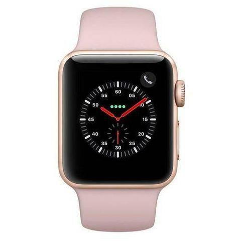 Apple Watch série 3, GPS E CELULAR, 42mm, Rosa