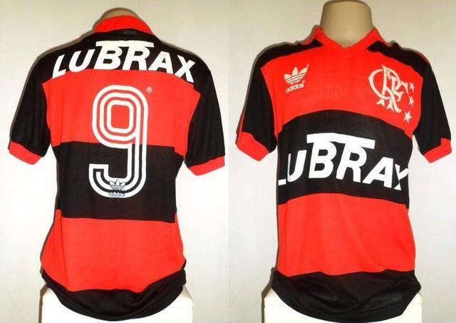 Camisa Flamengo Adidas 88/92 jogo #9 G