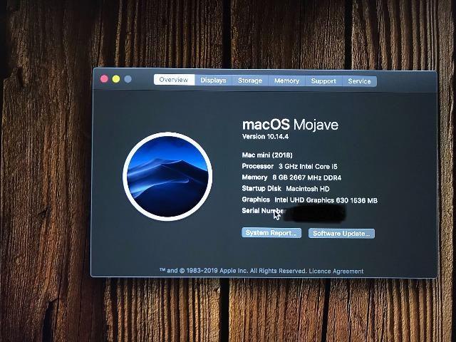 MacMini 2018 - i5 3 0Ghz 8GB Ram ddr4 2667MHz - Leia o Anuncio