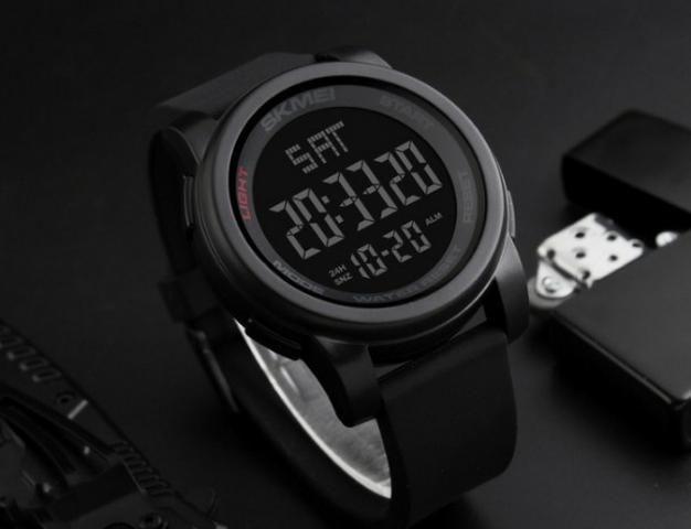 8a07cdbf27 Relógio Masculino Digital Esportivo Prova D água Skmei 1257 ...