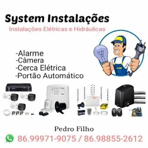 Cerca Elétrica com brinde, Câmera e serviços elétricos