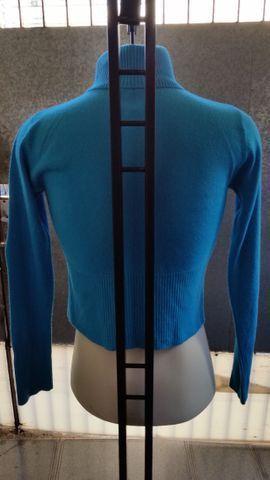 Blusa de Lã Azul Claro - Foto 3