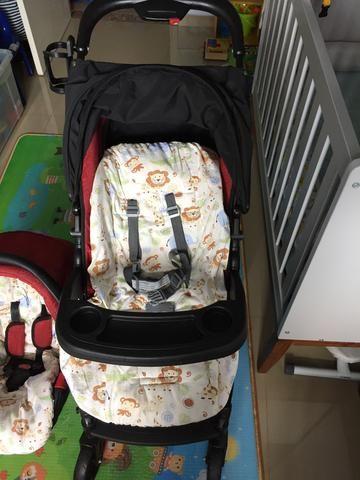 Burigotto Peg Perego Carrinho de bebê + bebê conforto - Foto 4