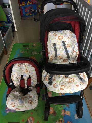 Burigotto Peg Perego Carrinho de bebê + bebê conforto - Foto 3