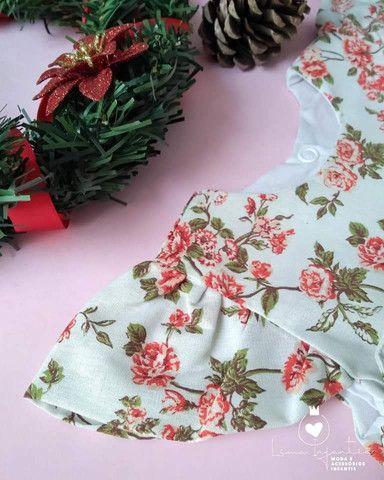 Vestido Floral - M (3 a 6 meses) - Foto 3