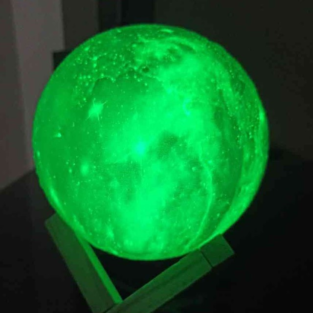 Luminária Planeta Cheia 3D Troca de Cor  - Foto 2