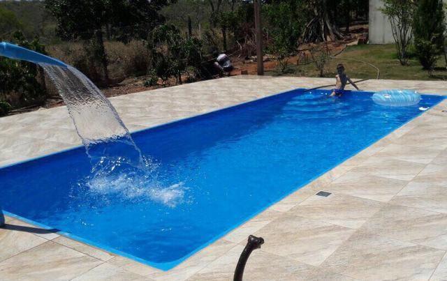 Piscina retangular de fibra 7 30 comprimento artigos for Valor piscina de fibra