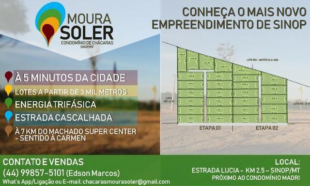 Condomínio de Chácaras Moura Soler em Sinop/MT com lotes a partir de 3.000m