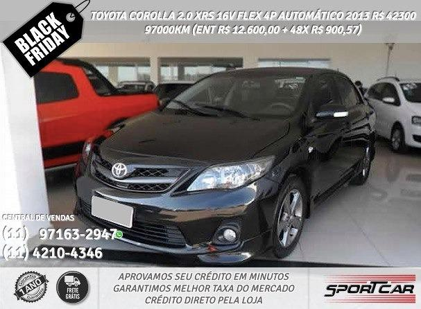 Toyota Corolla 2.0 Xrs 16v Flex Preto 4p Automático 2013 R$ 42397 97084km