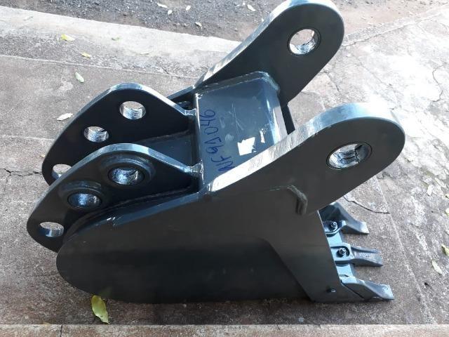 "Caçamba de Retro Escavadeira Case 580N 300mm, 12"" - Foto 2"