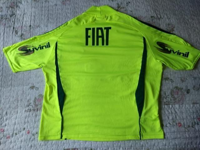 Camisa Palmeiras Adidas verde limão marca texto patch campeão - Foto 3