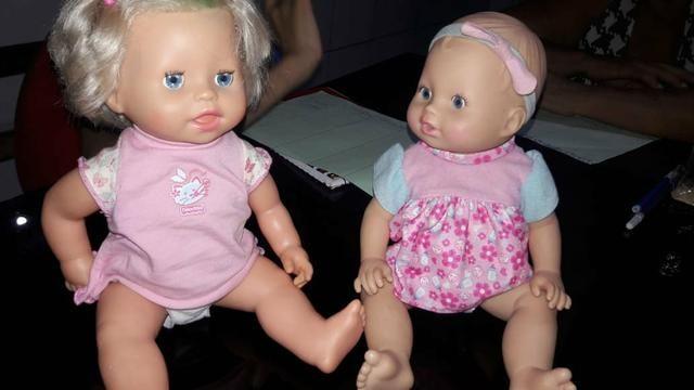 Vendo bonecas baby live+cachorros robôs