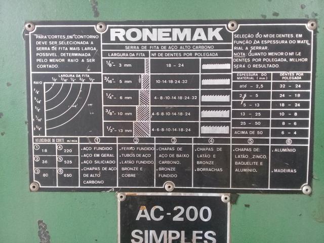 Serra fita Ronemack