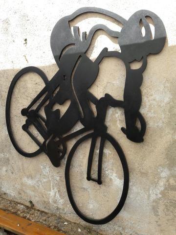 Placa em mdf ciclista