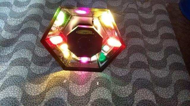 Iluminação Cogumelo Ritmo 110 Volts Multicolor