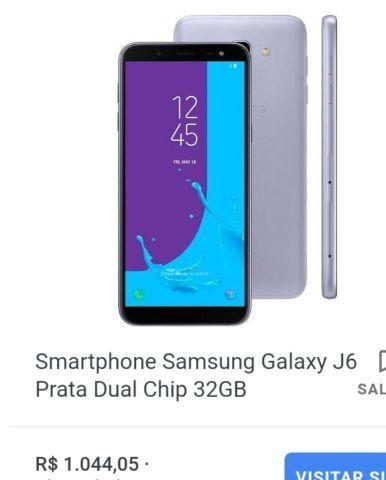 Samsung j6 com garantia de 11 meses
