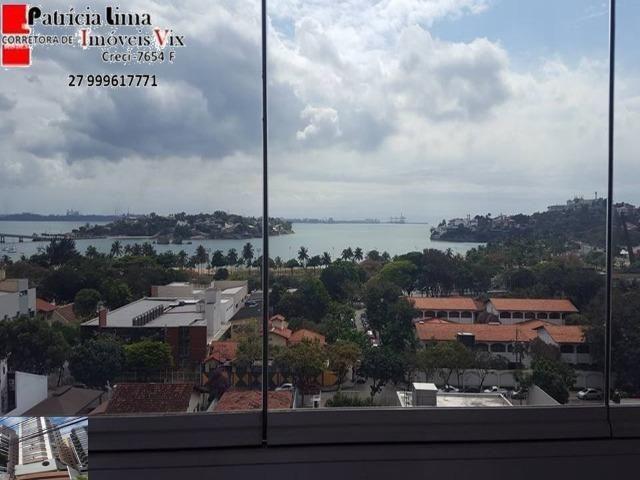 Lindo apartamento 3 quartos frente para a vista mais linda de Vitória. Praia do Suá