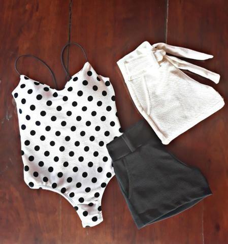 Body, Cropped, Blusa e Short