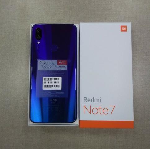 Celular Xiaomi Redmi Note 7 128GB Azul ate 12x sem juros