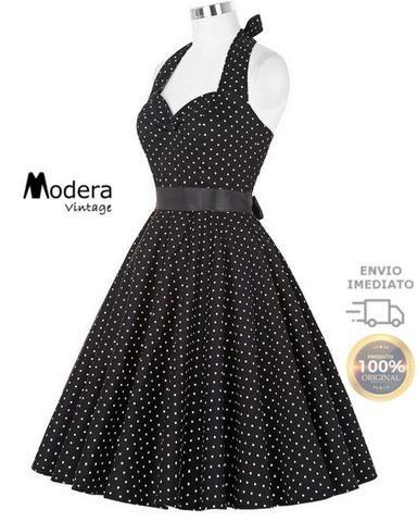 fc4c5c0c9 Vestido De Bolinha Anos 60 Festa Vintage Retrô Bola 50 Pin26 ...