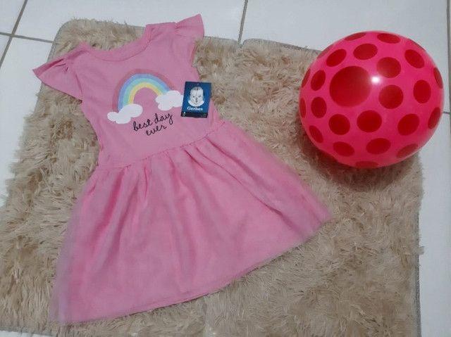 Vestido Gerber Arcoíris C/Tule 3 Anos Importado Promoção - Foto 2