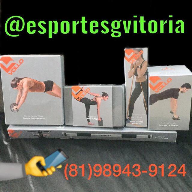 Pilates Ioga musculação anilha haltere luva corda bola barra  - Foto 3