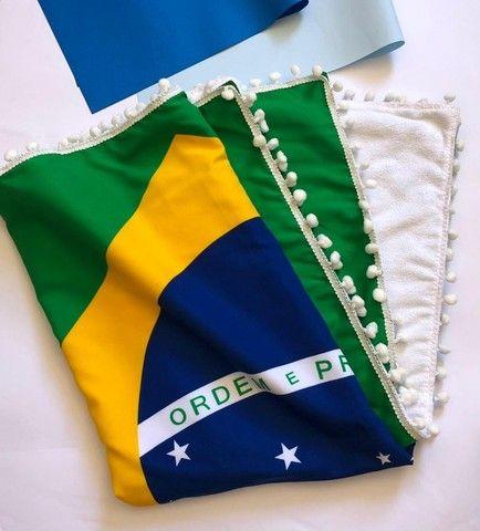 Canga De Praia Atoalhada Bandeira Do Brasil - Foto 6