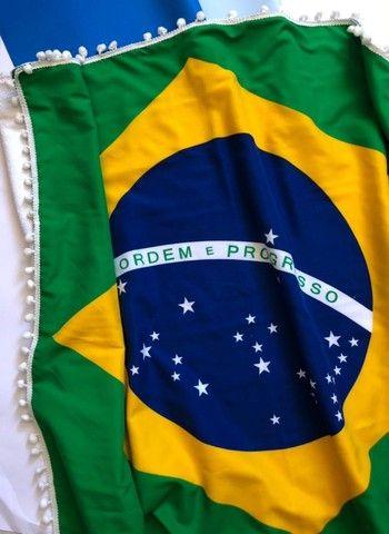 Canga De Praia Atoalhada Bandeira Do Brasil - Foto 4